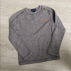 Polo Ralph Lauren Boys Gray Thermal Tee Shirt - 5